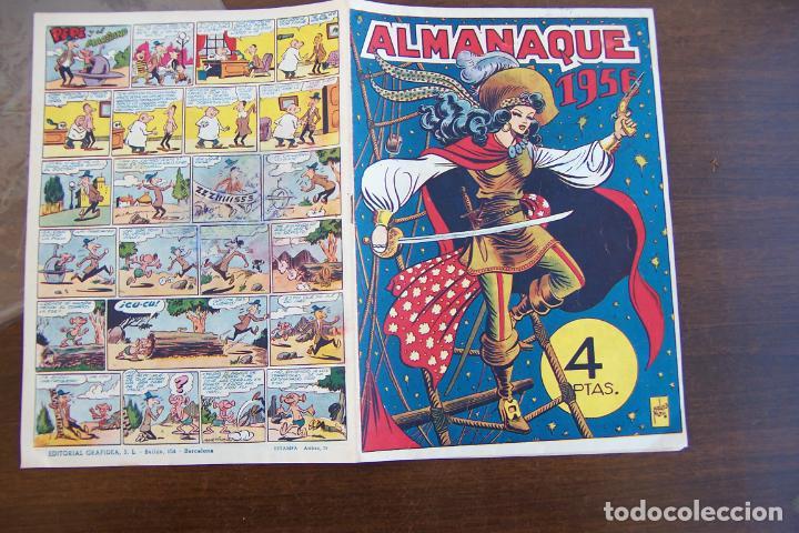 GRAFIDEA, ALMANAQUE 1956 LA CAPITANA (Tebeos y Comics - Tebeos Almanaques)