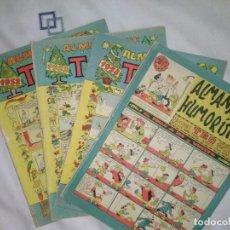 Tebeos: COMICS ALMANAQUES TBO DE 1952 - 1953 - 1958 Y ALMANAQUE HUMORISTICO DE 1963. Lote 204649871