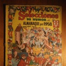 Tebeos: TEBEO - SELECCIONES DEL HUMOR - EL DDT - ALMANAQUE PARA 1958. Lote 204790416
