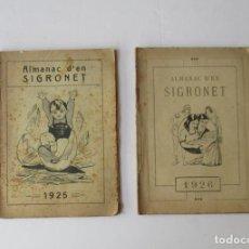 BDs: ALMANAC D'EN SIGRONET - AÑOS 1925 Y 1926. Lote 209235668