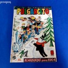 Tebeos: PULGARCITO- ALMANAQUE PARA 1964-EXCELENTE ESTADO. Lote 209601275