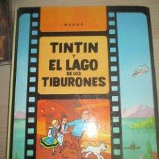 Tebeos: TINTIN Y EL LAGO DE LOS TIBURONES.LAS AVENTURAS DE TINTIN-EDITORIAL JUVENTUD EDICION 1988. Lote 211561531