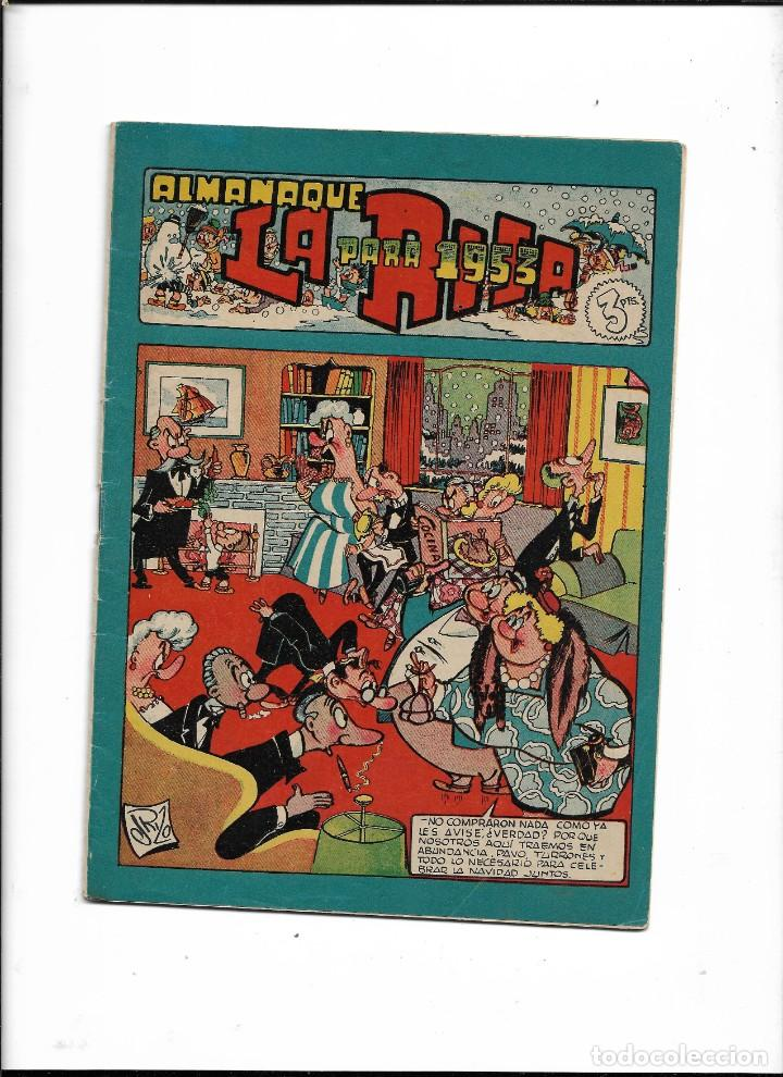 LA RISA, ALMANAQUE PARA 1953. ES ORIGINAL Y NUEVO DIBUJANTES E. BOIX, BEAUMONT EDITORIAL MARCO. (Tebeos y Comics - Tebeos Almanaques)