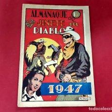 Tebeos: ALMANAQUE 1947 EL JINETE DEL DIABLO -ORIGINAL EXCELENTE ESTADO-VER FOTOS. Lote 217460737