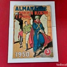 Tebeos: ALMANAQUE 1950 -ROBERTO ALCAZAR Y PEDRIN -ORIGINAL- EXCELENTE ESTADO-VER FOTOS. Lote 217468972
