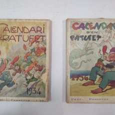 Tebeos: CALENDARI D'EN PATUFET - AÑOS 1934 Y 1936. Lote 217910992