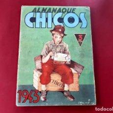 Tebeos: CHICOS ALMANAQUE PARA 1943 EDITA CONSUELO GIL. Lote 218498046