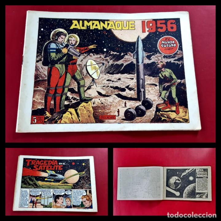 EL MUNDO FUTURO - ALMANAQUE PARA 1956 - ORIGINAL-EXCELENTE ESTADO (Tebeos y Comics - Tebeos Almanaques)