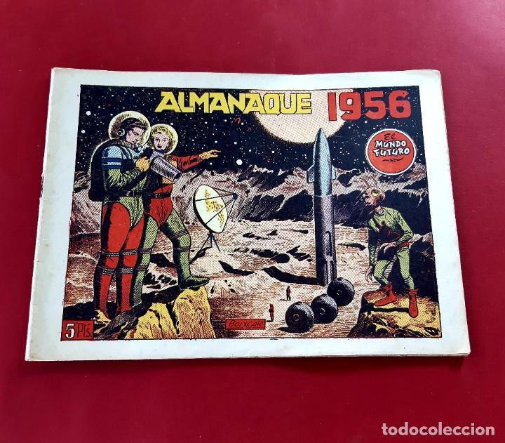 Tebeos: EL MUNDO FUTURO - ALMANAQUE PARA 1956 - ORIGINAL-EXCELENTE ESTADO - Foto 2 - 218616386