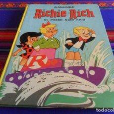Tebeos: ALMANAQUE RICHIE RICH EL POBRE NIÑO RICO. EUREDIT 1973. TAPAS DURAS. REGALO PELEFAN.. Lote 220754897