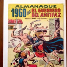 Tebeos: ALMANAQUE EL GUERRERO DEL ANTIFAZ 1960-ED.VALENCIANA-ORIGINAL-MUY BUEN ESTADO. Lote 223467633