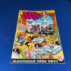Tebeos: TIO VIVO ALMANAQUE 1971 (BRUGUERA 1970) CON PITHY RAINE.. Lote 223847067