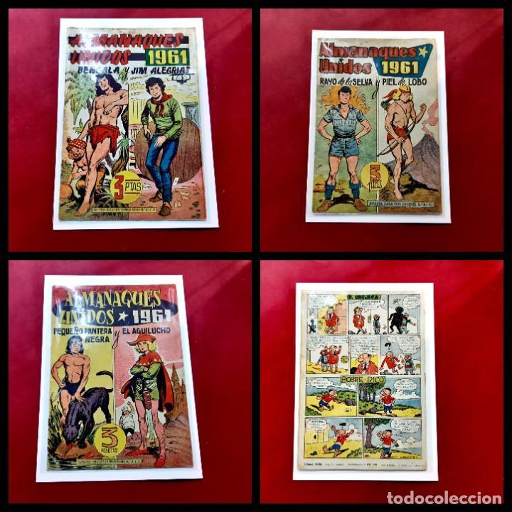 ALMANAQUES UNIDOS 1961 - LOTE DE 3 - ORIGINALES (Tebeos y Comics - Tebeos Almanaques)