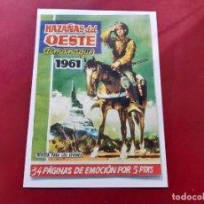 Tebeos: HAZAÑAS DEL OESTE ALMANAQUE 1961 -EXCELENTE ESTADO-. Lote 223955860