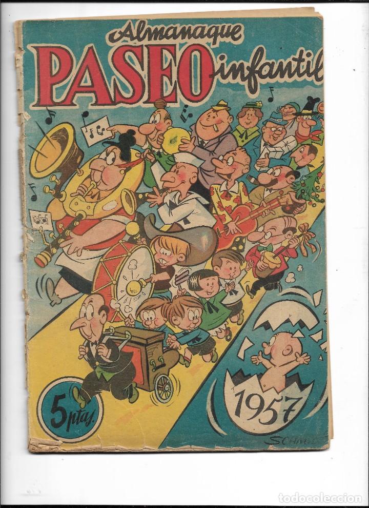 PASEO INFANTIL, ALMANAQUE PARA 1957 ES ORIGINAL DIBUJANTE GUSTAVO SCHMIDT EDITORIAL GESTÓN (Tebeos y Comics - Tebeos Almanaques)