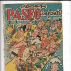 Tebeos: PASEO INFANTIL, ALMANAQUE PARA 1957 ES ORIGINAL DIBUJANTE GUSTAVO SCHMIDT EDITORIAL GESTÓN. Lote 224018203