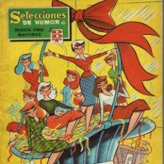 Tebeos: SELECCIONES DE HUMOR DE EL DDT - ALMANAQUE PARA 1959 - BRUGUERA 1958 - ORIGINAL - BIEN. Lote 226846530