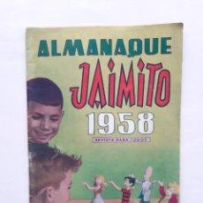 Tebeos: TEBEO ALMANAQUE JAIMITO PARA 1958 VALENCIANA 5 PESETAS. Lote 227671360