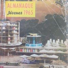 Tebeos: ALMANAQUE REVISTA JÓVENES 1965. INCLUYE PUBLICIDAD SCALEXTRIC, SOLIDO, RICO, MECANO. Lote 234051155
