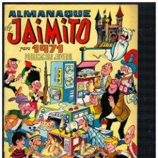Tebeos: ALMANAQUE DE JAIMITO PARA 1971. VALENCIANA. ORIGINAL.. Lote 236033345