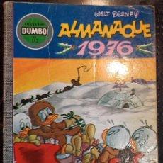 Tebeos: LIBRO COLECCION DUMBO ALMANAQUE 1976, Nº 132. EDICIONES RECREATIVAS, WALT DISNEY, 1975. Lote 236109555