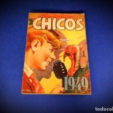 Tebeos: CHICOS ALMANAQUE PARA 1949 EDITA CONSUELO GIL. Lote 236397290