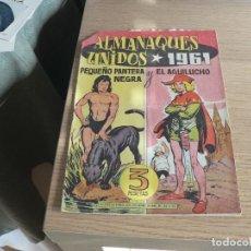 Tebeos: ALMANAQUE UNIDOS AGUILUCHO Y PEQUEÑO PANTERA NEGRA 1961. Lote 236903305