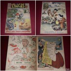 Tebeos: ALMANAQUE MIS CHICAS 1949 CON EL RECORTABLE DEL BEBE CHICHI. Lote 243418030