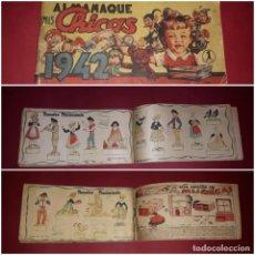 Livros de Banda Desenhada: ALMANAQUE MIS CHICAS 1942 CON RECORTABLE NACIMIENTO BELEN. Lote 243431420