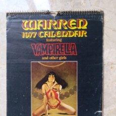 Tebeos: WARREN 1977 CALENDAR VAMPIRELLA ENRICH. Lote 244820970
