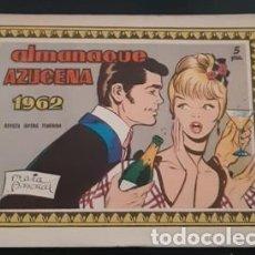 Livros de Banda Desenhada: ALMANAQUE AZUCENA DE 1962, IL. DE MARÍA PASCUAL, CON MARISOL Y HA LLEGADO UN ÁNGEL EN CONTRAPORTADA. Lote 245200200