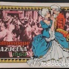 Livros de Banda Desenhada: ALMANAQUE AZUCENA DE 1963, IL. DE ROSA GALCERAN CON EL DÚO GUARDIOLA EN CONTRAPORTADA. Lote 245201035