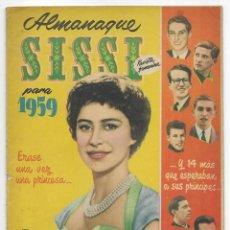 Tebeos: SISSI REVISTA JUVENIL FEMENINA ALMANAQUE PARA 1959. Lote 245573795
