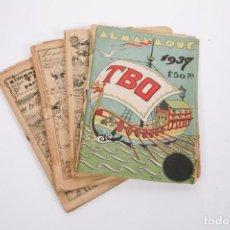 Tebeos: CONJUNTO DE 4 TBO ALMANAQUE - AÑOS 1934, 1935, 1936 Y 1937 - PORTADA OPISSO. Lote 251159265