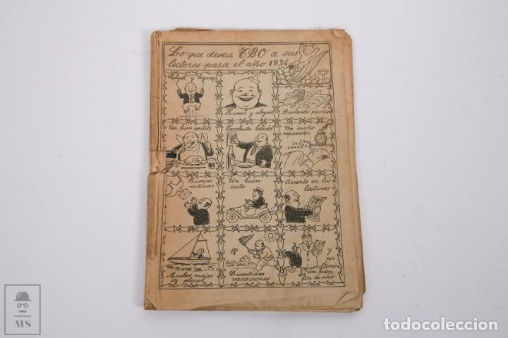 Tebeos: Conjunto de 4 TBO Almanaque - Años 1934, 1935, 1936 y 1937 - Portada Opisso - Foto 2 - 251159265