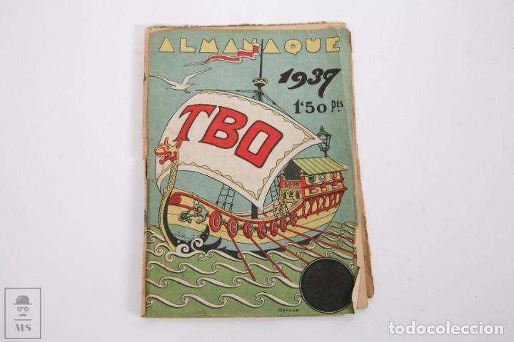 Tebeos: Conjunto de 4 TBO Almanaque - Años 1934, 1935, 1936 y 1937 - Portada Opisso - Foto 13 - 251159265