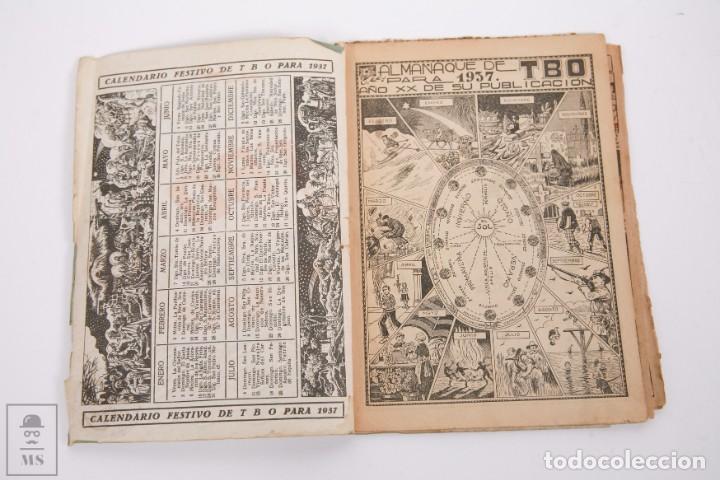 Tebeos: Conjunto de 4 TBO Almanaque - Años 1934, 1935, 1936 y 1937 - Portada Opisso - Foto 15 - 251159265