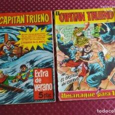 Tebeos: EL CAPITAN TRUENO EXTRA DE VERANO 1960 Y REGALO CAPITAN TRUENO ALMANAQUE 1961. Lote 251275725