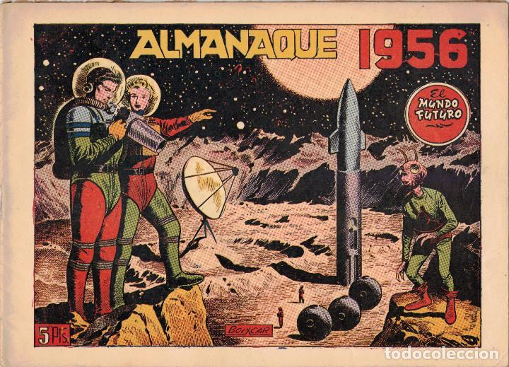 ALMANAQUE EL MUNDO FUTURO 1956 (ORIGINAL). IMPECABLE. (Tebeos y Comics - Tebeos Almanaques)