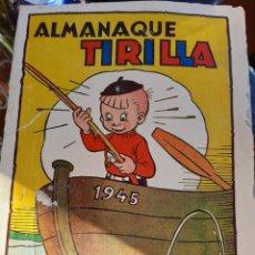 Tebeos: ALMANAQUE TIRILLA AÑO 45. Lote 253888215