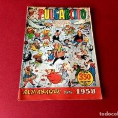 Tebeos: ALMANAQUE PULGARCITO 1958 BRUGUERA. Lote 261698755