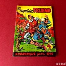 Tebeos: ALMANAQUE EL CAPITAN TRUENO 1959 -ORIGINAL. Lote 261717340