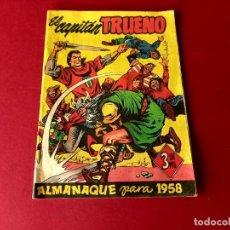 Tebeos: ALMANAQUE EL CAPITAN TRUENO 1958 -ORIGINAL. Lote 261719860