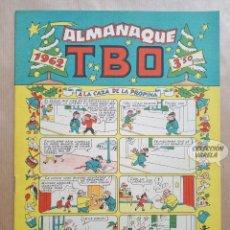Tebeos: ALMANAQUE TBO 1962 - ORIGINAL. Lote 262274270