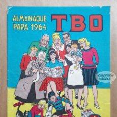 Tebeos: ALMANAQUE TBO 1964 - ORIGINAL - PORTADA DE OPISSO. Lote 262774025