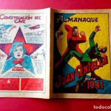 Tebeos: JUAN CENTELLA ALMANAQUE 1941. HISPANO AMERICANA-PORTADA FREIXAS. Lote 263152900