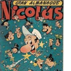 Tebeos: ALMANAQUE NICOLÁS AÑO 1950, ORIGINAL. Lote 267888849