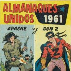 BDs: ALMANAQUES UNIDOS APACHE Y DON Z 1.961. Lote 269453948