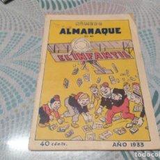 Tebeos: UNICO NUMERO ALMANAQUE DE EL INFANTIL AÑO 1933 MIREN FOTOS. Lote 281025218
