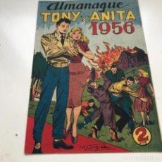 Tebeos: TBO CLÁSICO ESPAÑOL ALMANAQUE TONY Y ANITA 1956 ORIGINAL. Lote 287721668